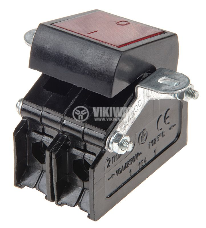 Rocker Switch, 2-position, OFF-ON, 16A/250VAC, hole size 30х35mm - 2