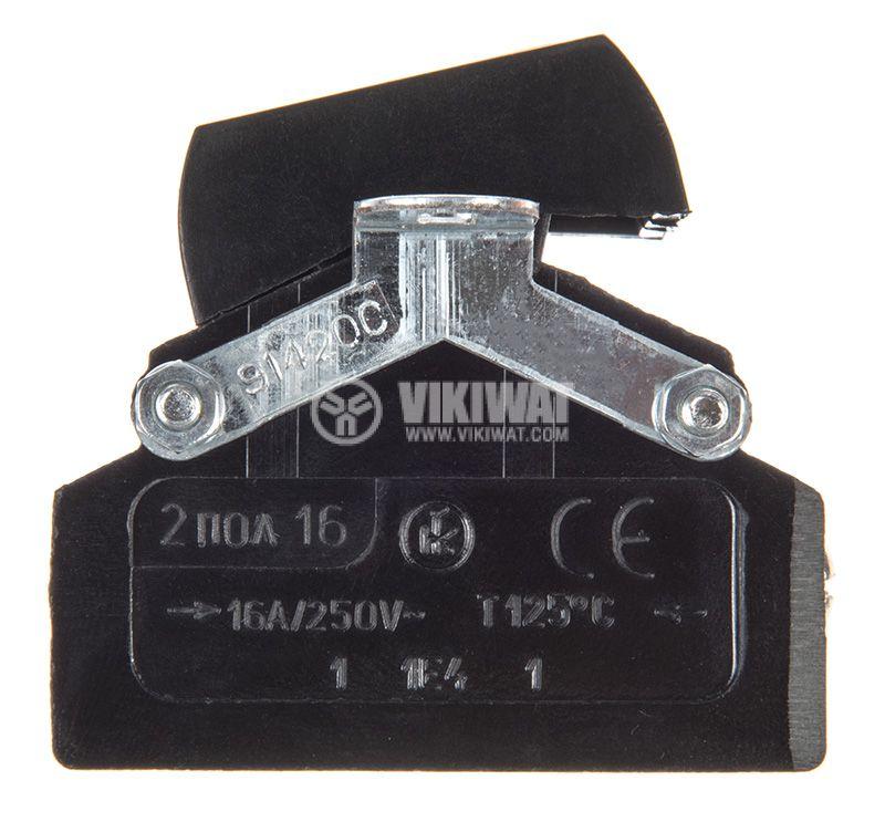 Rocker Switch, 2-position, OFF-ON, 16A/250VAC, hole size 30х35mm - 3