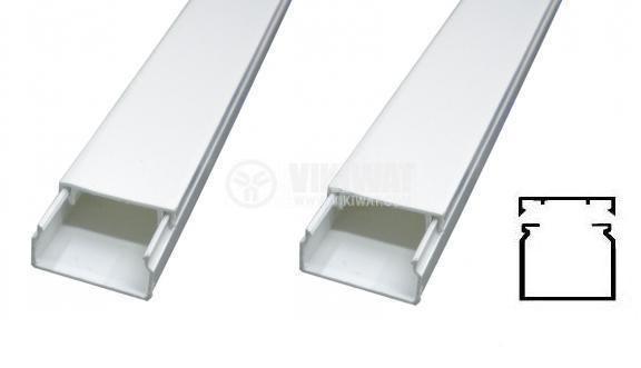 Кабелен канал 120x40x2000 mm, пластмаса - METESAN