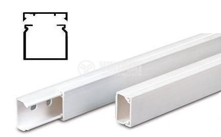 Кабелен канал 40x16x2000 mm, пластмаса - METESAN