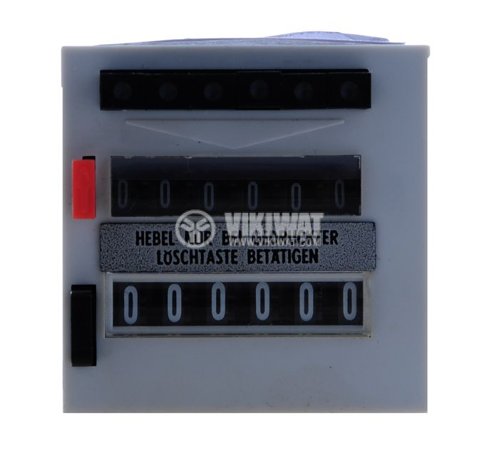 Electromechanical Impulse Counter,  ZLVt 241, 60 VDC, 2 x 6 digits, from 1 to 999,999 pulses, NO + NC, programmable - 2