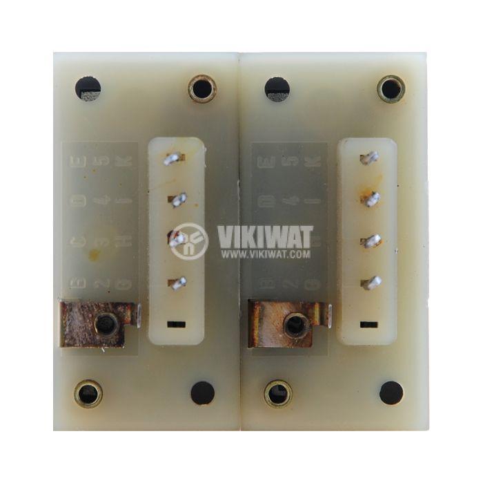 Брояч на импулси, електромеханичен, ZLVt 241, 60 VDC, 2 x 6 разряда, 1 - 999999 импулса, NO+NC - 3