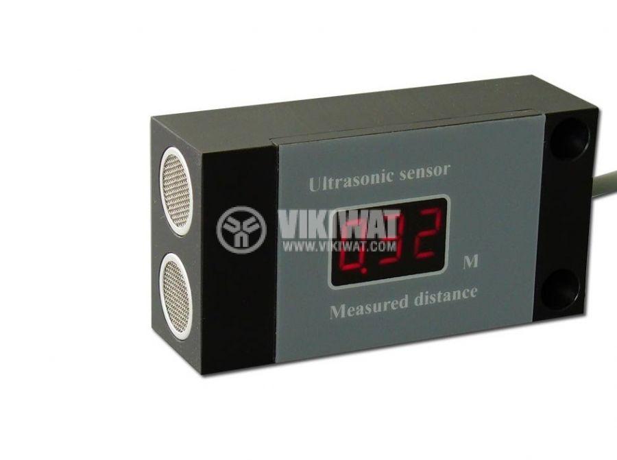 Ултразвуков датчик, UD64AI01-1l, 14-30 VDC, 1 m, аналогов изход 20 mA, с индикация за разстояние - 1