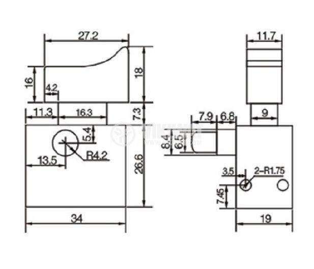 Електрически прекъсвач за електроинструменти FA9-6/2W-52 4 A/250 VAC 2NO - 2