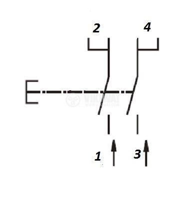 Електрически прекъсвач за електроинструменти FA9-6/2W-52 4 A/250 VAC 2NO - 3