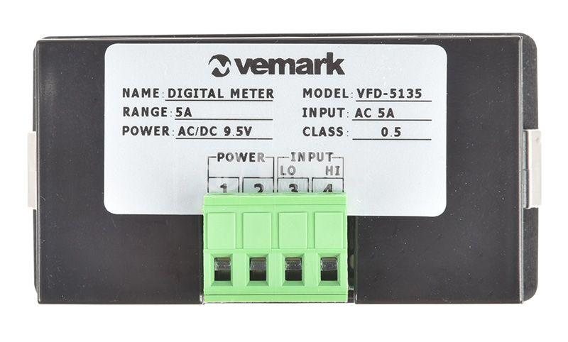 Digital ammeter LEDx3, 0-5A, AC, VFD-5135 - 2