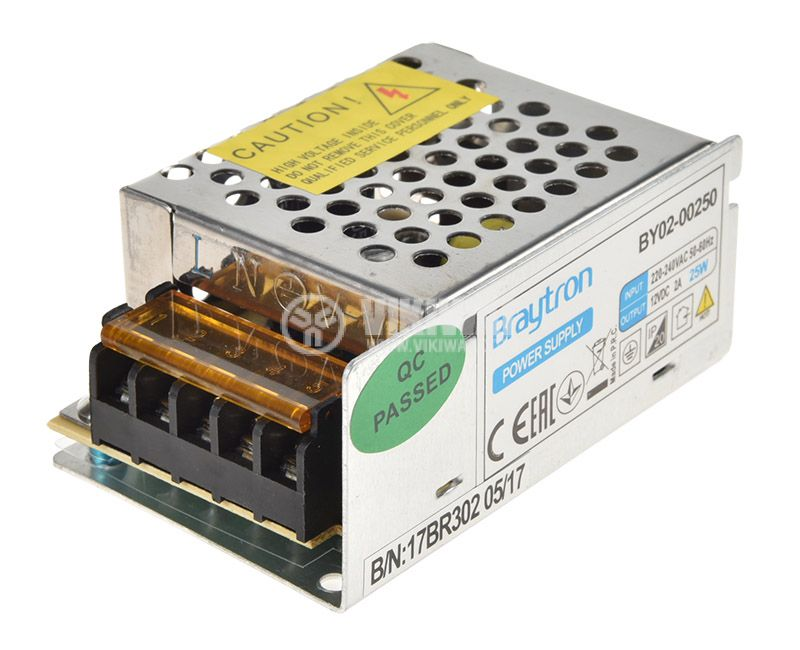 LED Power Supply 12VDC, 220VAC, 2A, 25W, IP20, non-waterproof,  BY02-00250 - 3