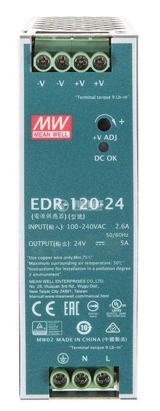 Импулсно захранване 5A/24VDC - 1