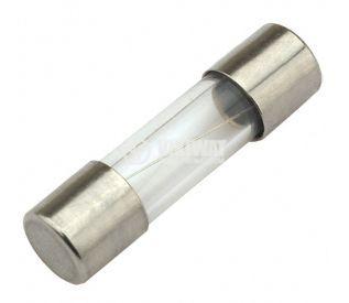 Предпазител стъклен 10х38mm 6.3А 250V