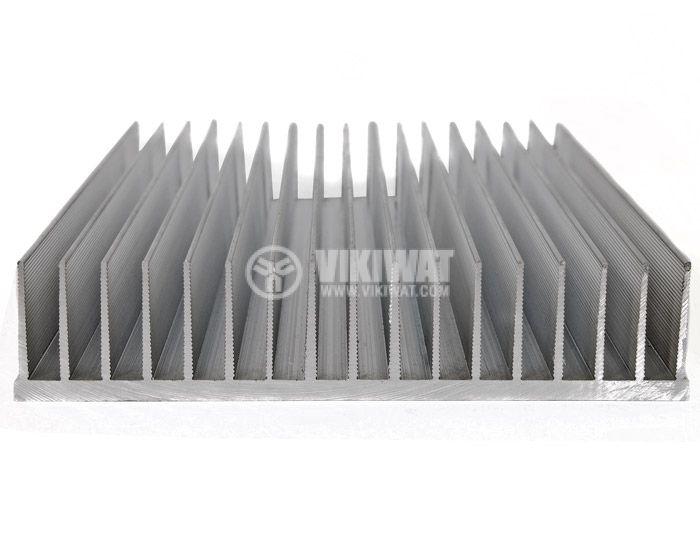 Aluminum cooling radiator profile 500mm 165x35x5 mm - 1