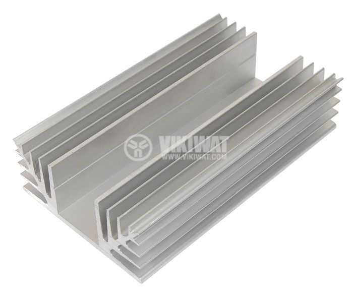 Aluminum cooling radiator profile 500mm 88x35 mm - 2