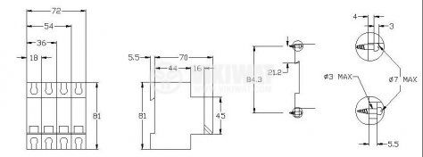 Предпазител автоматичен, еднополюсен, 1x20A, IC60N BG, C крива, DIN шина - 2