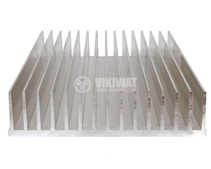 Aluminum cooling radiator profile 500mm 145x35x5 mm - 1