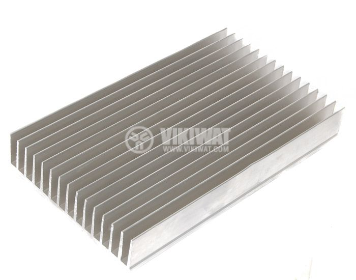 Aluminum cooling radiator profile 500mm 145x35x5 mm - 2