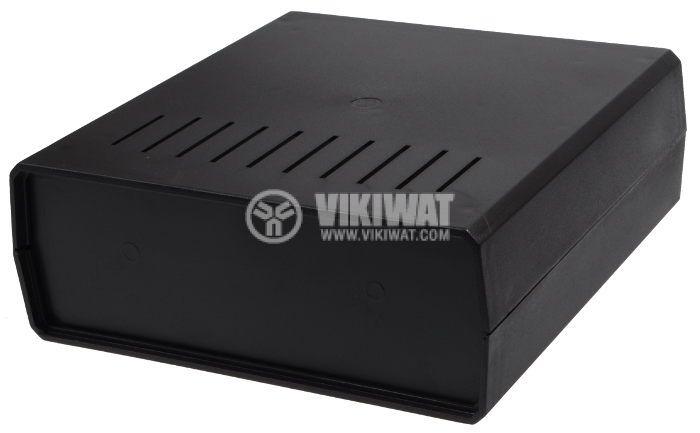 Кутия Z-1W от полистирен, черна 200x191x70 - 1