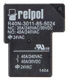 Електромагнитно реле, R40N-3011-85-5024, бобина 24VAC 250VAC/40A 1NO+1NC