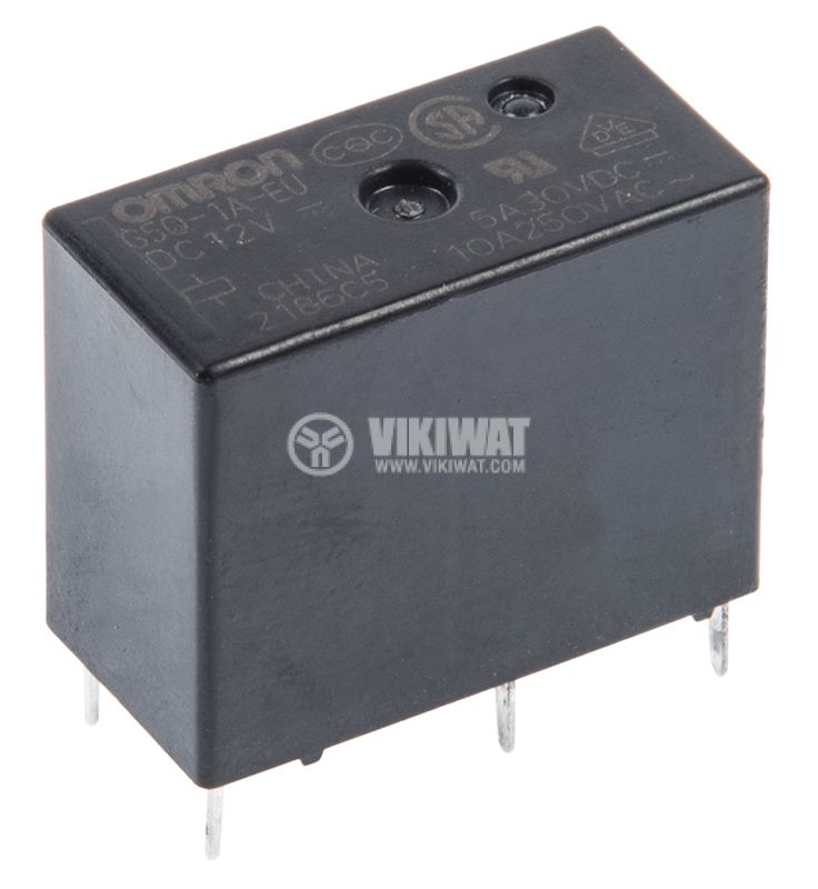 Electromagnetic relay G5Q-1A-EU, with coil 12VDC, 250VAC / 10A, SPST-NO - 1