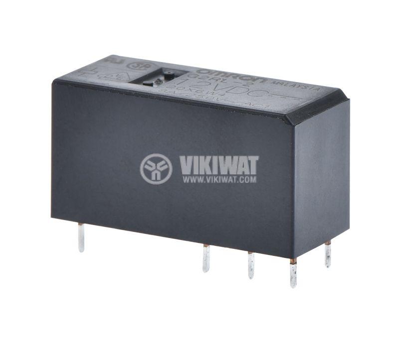 Реле електромагнитно G2RL-2, с бобина 12VDC, 250VAC / 8A, DPDT - 1
