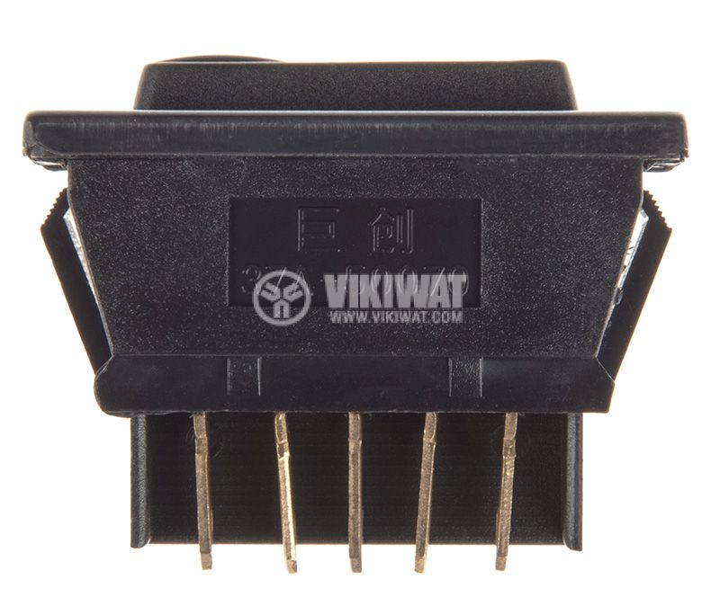 Rocker Switch, 3-position, (ON)-OFF-(ON), 20A/12VDC, hole size 38x19mm - 2
