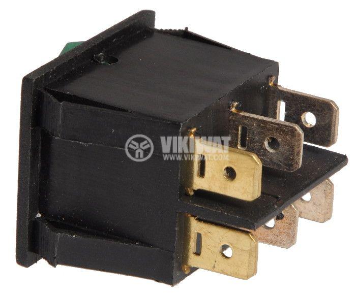 Клавишен превключвател, MK 321 A/N, 15A/250VAC, 2xSPST - 5
