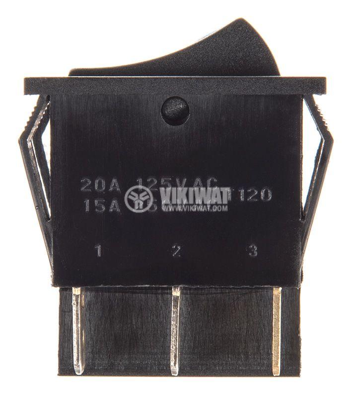 Rocker превключвател, 2x2 позиции, OFF-ON, 15A/250VAC, отвор 30x22mm - 2