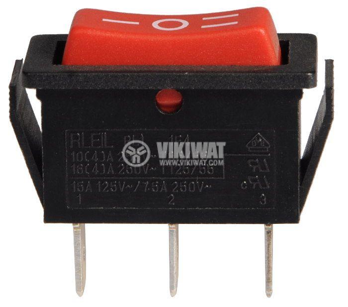 Клавишен превключвател, 10A/250VAC, SP3T