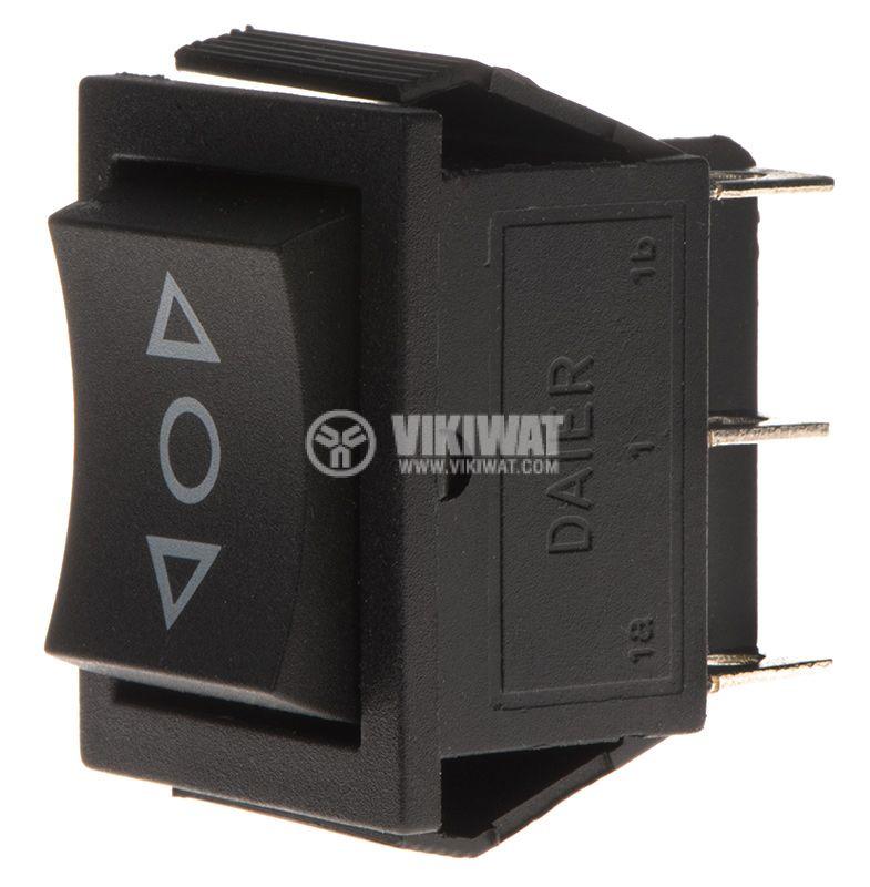 Rocker превключвател, 3 позиции, (ON)-OFF-(ON), 16A/250VAC, отвор 29x22mm - 1