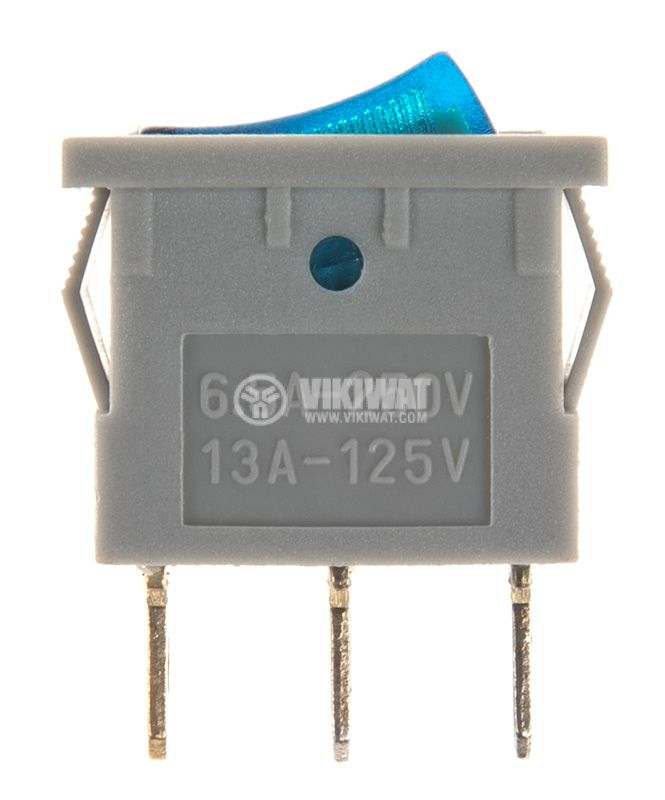 Rocker Switch, 2-position, OFF-ON, 6.5A/250VAC, hole size 19x13mm - 2