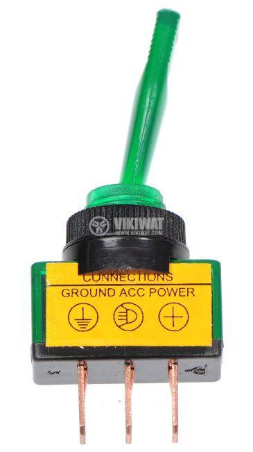 ЦК ключ с LED светодиод ASW-13, 20A/12VDC, SPST, ON-OFF