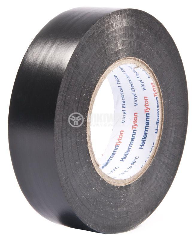 PVC изолационна лента HTAPE-FLEX15-19x20-PVC-BK, 19mm x 20m, черна - 1