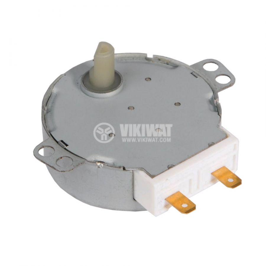 Мотор за микровълнова фурна 49TYZ-A2 21VAC 4W 2.5/3 оборота/мин PVC ос ф7mm засечка 5mm - 1