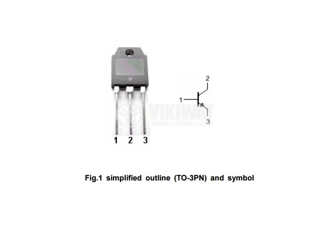 Транзистор 2SC3927, NPN, 900 V, 10 A, 120 W, 6 MHz, TO3P - 2