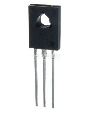 Транзистор BD875, NPN, 60 V, 1 A, 9 W, 200 MHz, TO126, дарлингтон