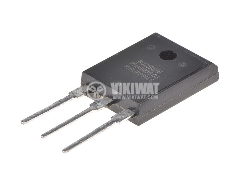 Транзистор BU2508AF, NPN, 1500 V, 8 A, 45 W, TO3PML - 1