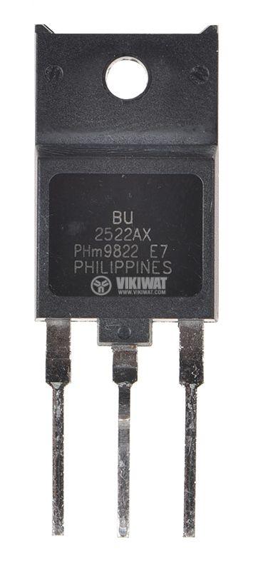 Транзистор BU2522AX, NPN, 1500 V, 10 A, 45 W, TO3PML - 2