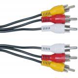 Cable, 3xRCA/m-3xRCA/m, 1.5m