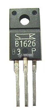 Tранзистор 2SB1626, PNP, 110 V, 6 A, 30 W, 100 MHz, дарлингтон