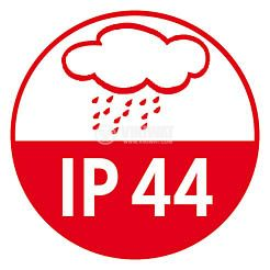 Infrared Motion Detector (PIR), Brennenstuhl,  220VAC, 1000/300/100W, 180°, PIR 180, IP44, white - 4