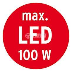Infrared Motion Detector (PIR), Brennenstuhl,  220VAC, 1000/300/100W, 180°, PIR 180, IP44, white - 5
