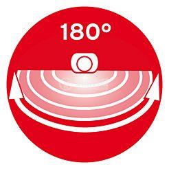 Infrared Motion Detector (PIR), Brennenstuhl,  220VAC, 1000/300/100W, 180°, PIR 180, IP44, white - 8