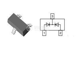 Диод малък сигнал  A4/BAV70 70V/200mA SOT-23 SMD общ катод