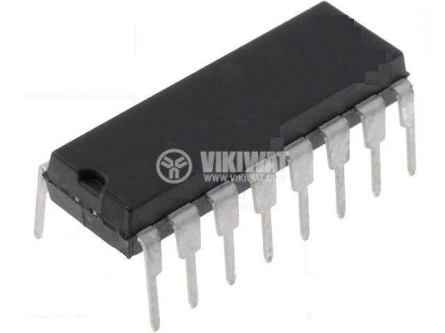Интегрална схема 74HC4051, TTL съвместима, HIGH-SPEED CMOS LOGIC ANALOG MULTIPLEXERS/DEMULTIPLEXERS, DIP16