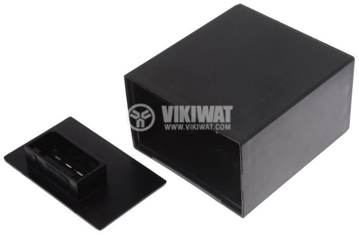 Кутия пластмасова за автомобилна електроника 85x80x50mm, черна
