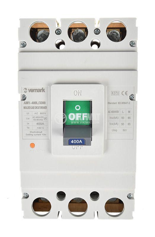 Автоматичен прекъсвач, АM1-400L, 3P, 400А, 400 VAC - 3