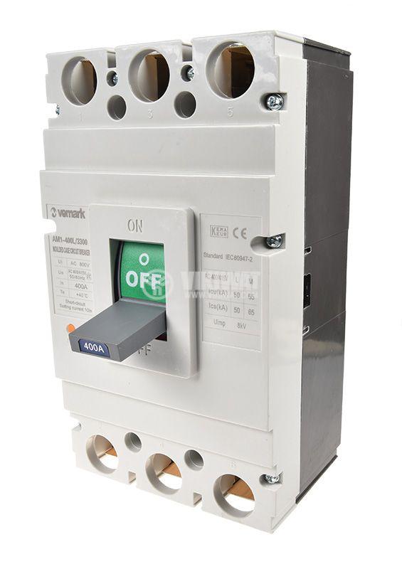 Автоматичен прекъсвач, АM1-400L, 3P, 400А, 400 VAC - 1