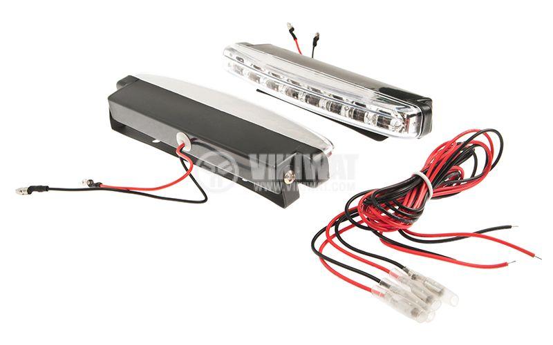 LED дневни светлини, за кола, пластмасов корпус - 3