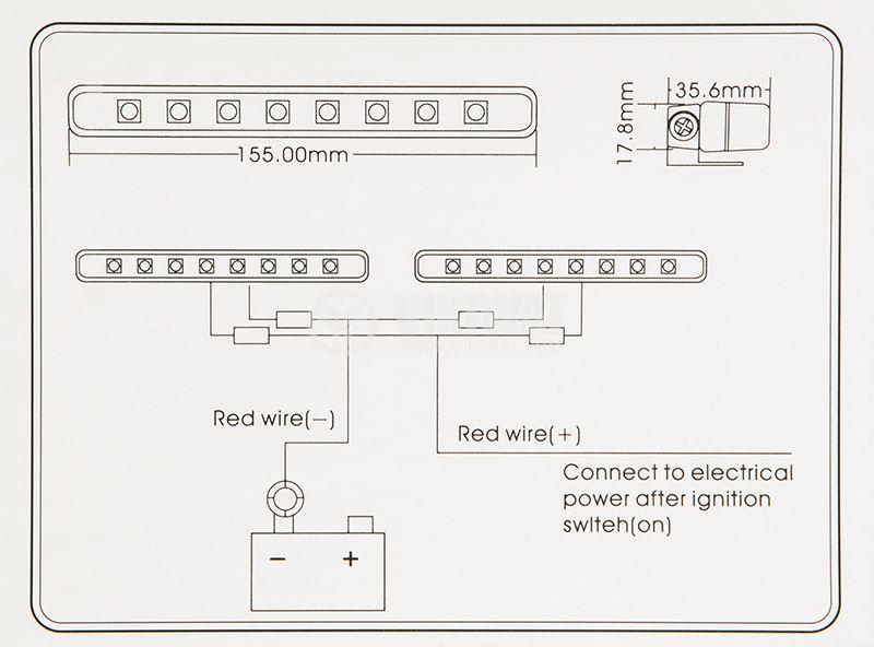 LED дневни светлини, за кола, пластмасов корпус - 4