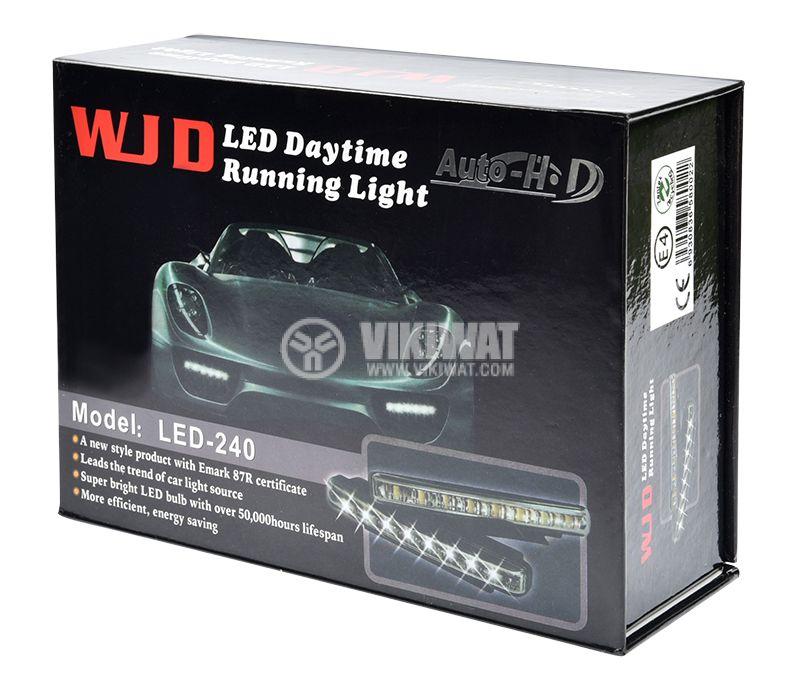 LED дневни светлини с пластмасов корпус и 8 диода DRL - 1
