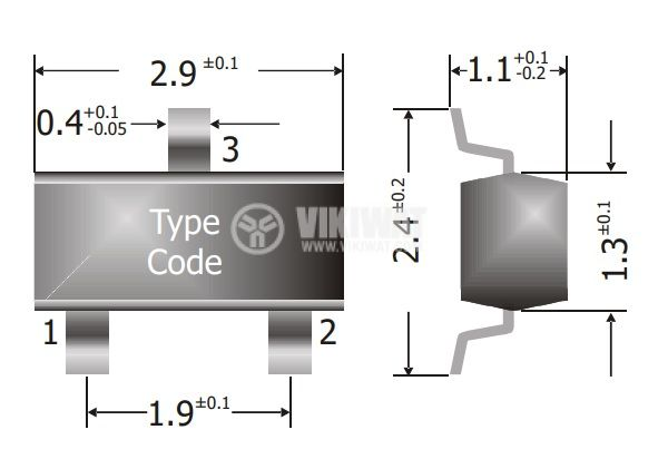 Диод супербърз SMD 85V 0.215A SOT23 4ns 2A - 2