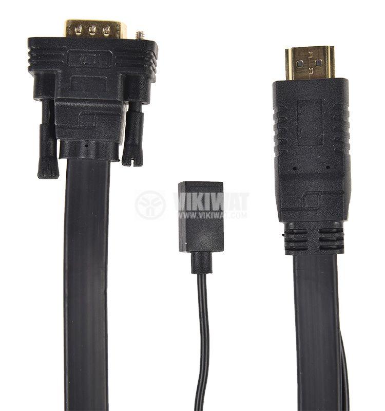 Кабел, HDMI/M-VGA/M, 1.8m - 3